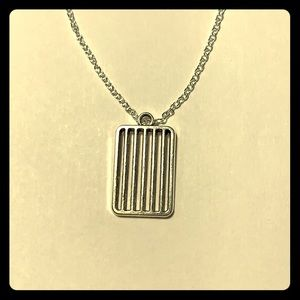 """Grill pendant 925 stamped 18"""" chain necklace"""